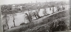 The town from the east bank of the Rappahonnock River, Fredericksburg, VA March 1863