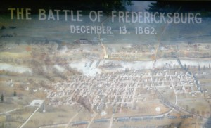 Fredericksburg Battlefield map